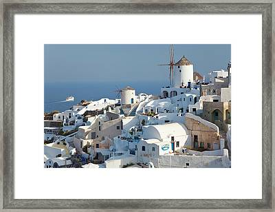 Oia, Santorini, Cyclades Islands, Greece Framed Print