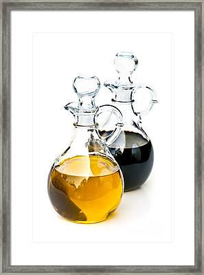 Oil And Vinegar Framed Print by Elena Elisseeva
