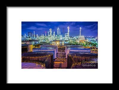 Manufacturing Plant Framed Prints