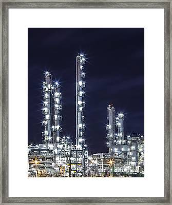Oil Refinery Industry Framed Print