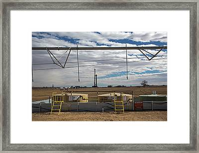 Oil Rig And Irrigation Equipment Framed Print