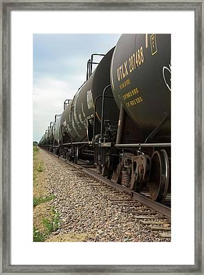 Oil Tanker Train Framed Print by Jim West