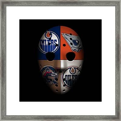 Oilers Goalie Mask Framed Print by Joe Hamilton