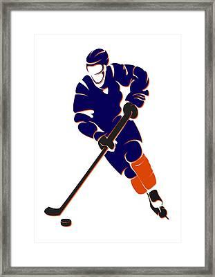 Oilers Shadow Player Framed Print by Joe Hamilton