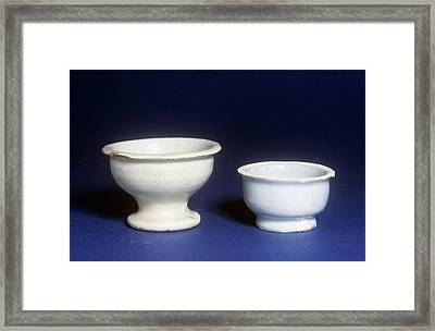 Ointment Pots Framed Print by Science Photo Library