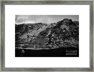Oksfjord During Winter Norway Europe Framed Print
