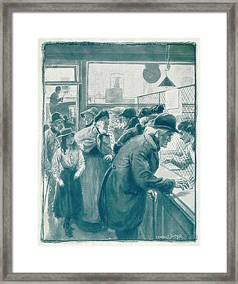 Old Age Pensions Are  Introduced Framed Print by Mary Evans Picture Library