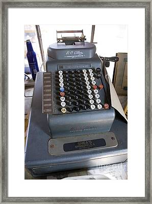 Old American Cash Register Framed Print