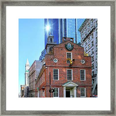 Old And New Boston Framed Print