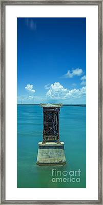 Old Bahia Honda Bridge Florida Keys Framed Print
