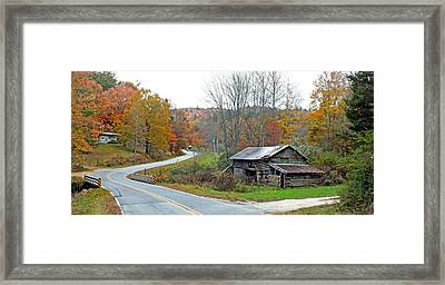 Old Barn Along Slick Fisher Road Framed Print