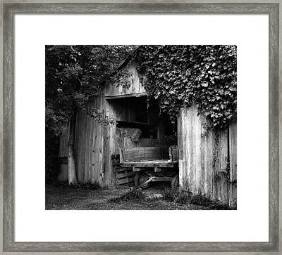 Old Barn And Wagon Framed Print