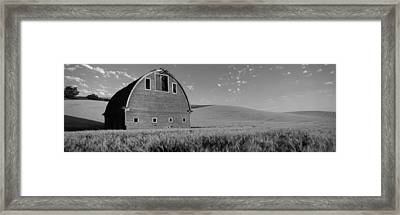 Old Barn In A Wheat Field, Palouse Framed Print by Panoramic Images