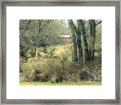 Old Barn Framed Print by Mickey Harkins
