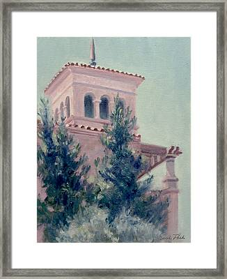 Old Bell Tower Framed Print by Sarah Parks