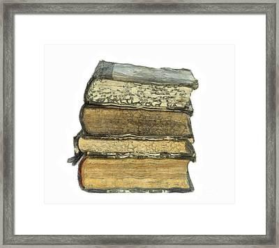 Old Books Framed Print by Michal Boubin