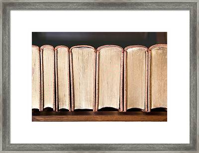 Old Books Framed Print by Tom Gowanlock