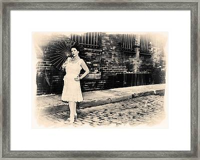 Old Brooklyn Street Framed Print