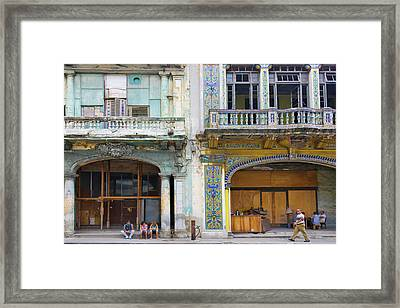 Old Building In The Historic Center Framed Print by Keren Su