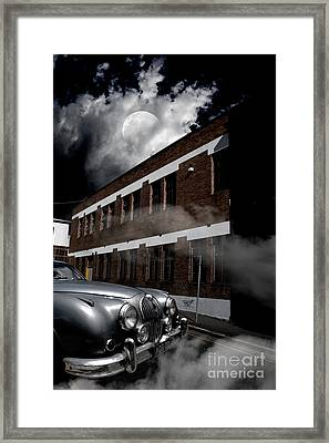 Old Car Near Building Framed Print