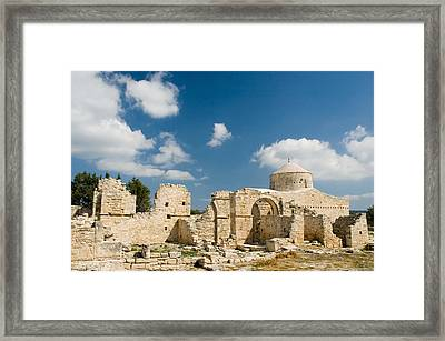 Framed Print featuring the photograph Old Church Anogyra  by Jeremy Voisey