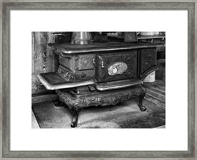 Old Clarion Wood Burning Stove Framed Print by Lynn Palmer