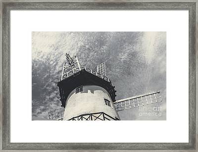 Old-fashioned Australian Windmill Architecture Framed Print by Jorgo Photography - Wall Art Gallery