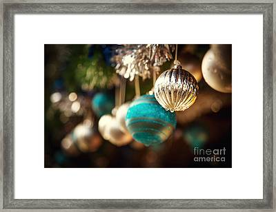 Old Fashioned Christmas Decorations Framed Print
