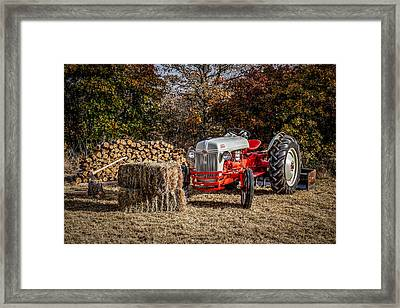 Old Ford Tractor Framed Print