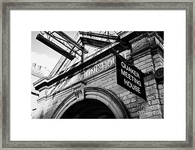 old friends meeting house frederick street Belfast Northern Ireland UK Framed Print