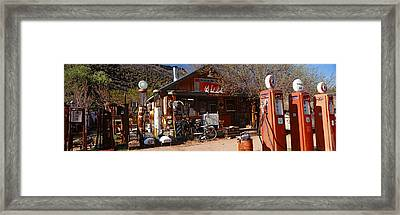 Old Frontier Gas Station, Embudo, New Framed Print