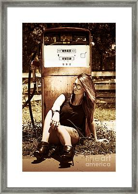 Old Gas Pump Framed Print