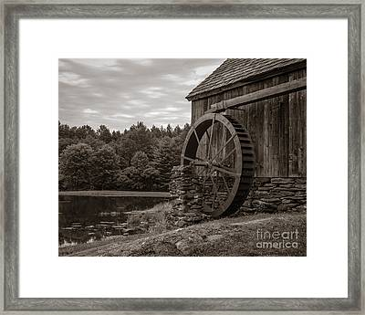 Old Grist Mill Vermont Framed Print