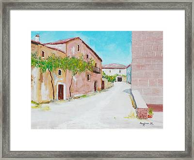 Old Houses Near The Old Church Framed Print by Mauro Beniamino Muggianu