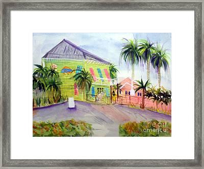 Old Key Lime House Framed Print