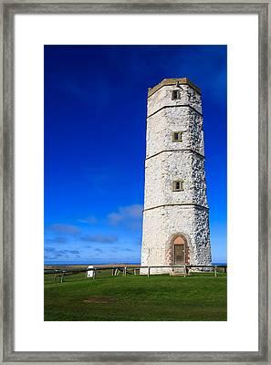 Old Lighthouse Flamborough Framed Print