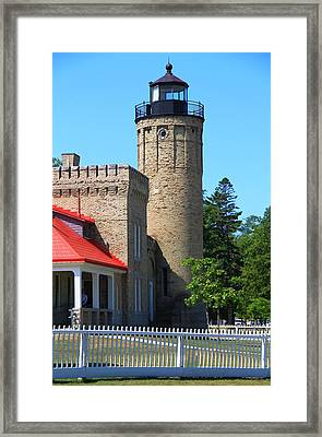 Old Mackinac Point Light Framed Print by Dan Sproul