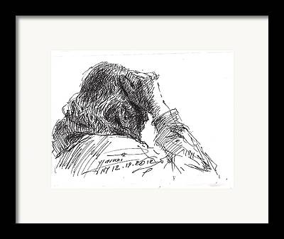 Thinking Drawings Framed Prints