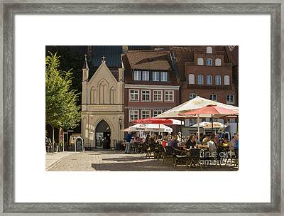 Old Market Square Stralsund Germany Framed Print by David Davies
