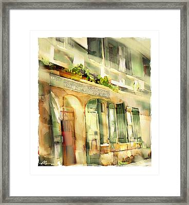 Old Ministry Of Transport Building / Haiti Framed Print
