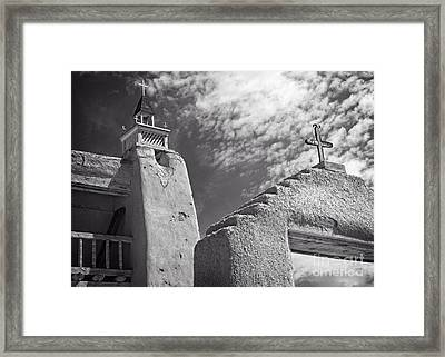 Old Mission Crosses Framed Print