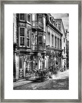 Old Quebec City 15 Framed Print by Mel Steinhauer