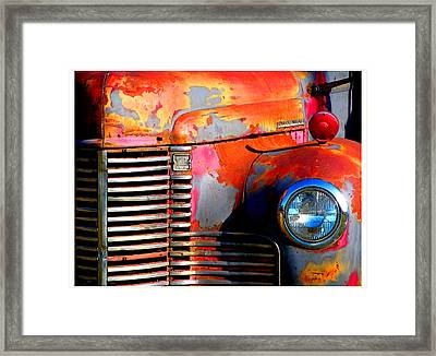 Old Red Man Framed Print by Gail Lawnicki