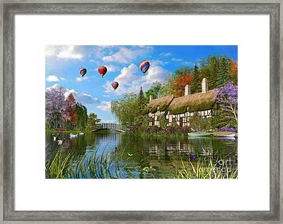 Old River Cottage Framed Print