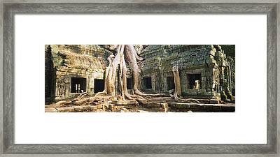 Old Ruins Of A Building, Angkor Wat Framed Print