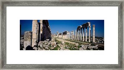 Old Ruins On A Landscape, Cardo Framed Print by Panoramic Images