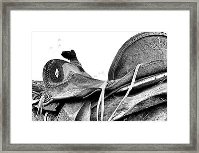 Old Saddle Framed Print