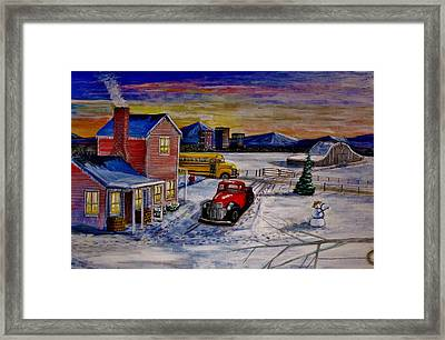 Old School Days. Framed Print by Larry E Lamb