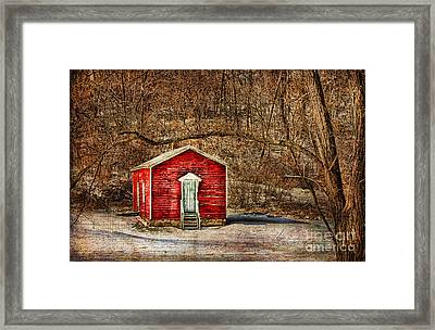 Old School House Framed Print by Darren Fisher