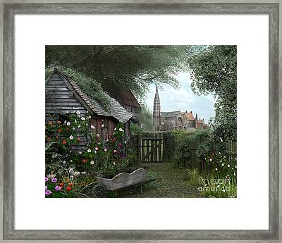 Old Shed Framed Print by Dominic Davison